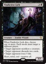 VINDICTIVE LICH Commander 2017 MTG Black Creature — Zombie Wizard Rare