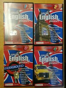 "Corso di inglese in 4 CD-ROM : "" SPEAK ENGLISH,PLEASE!"""