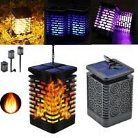 LED Flame Solar Power Torch Light Flickering Dancing Garden Lantern Lamp Outdoor