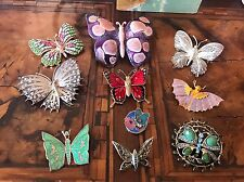 Rare! Lot Butterfly Brooches 10 Spille Farfalla Vintage And Modernist