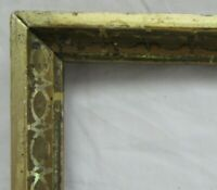 "ANTIQUE Fits 10"" X 13.5"" LEMON GOLD GILT STENCILED FRAME FINE ART VICTORIAN"