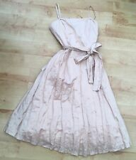 PRINCIPLES Peach Boned Lined Crinkle Prom/Bridesmaid/SpecOccasion UK12 Worn Once