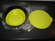 Tupperware Eleganzia Schüssel 3,2 Liter. Salatschüssel mit Deckel, schwarz-gelb