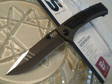 SOG Sideswipe Assisted Open Lockback Pocket Knife SW1011-CP 7Cr15MoV Titanium