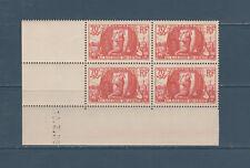timbre France bloc de 4 coin daté  a la gloire du génie militaire  num: 423  **