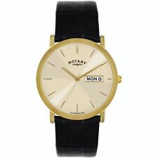 Rotary Genuine Leather Strap Wristwatches