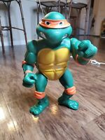 "Vintage TMNT Ninja Turtles Michaelangelo 12"" Figure 1989 Mirage Playmates"