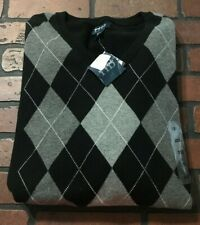 Harbor Bay V-Neck Argyle Sweater Men's Size 2XL
