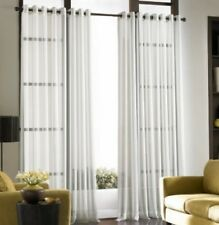 """*CURTAINWORKS SOHO Voile Grommet-Top Sheer Curtain Panel 59""""Wx95""""L White NEW"""