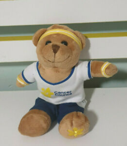 DAFFODIL DAY DOUGAL TEDDY BEAR PLUSH TOY! WORK OUT GEAR 18CM SHIRT PANTS HEADBAN