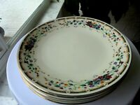 """Set of 4 Royal Bouquet Dinner Plates 10 1/4"""" Wide"""
