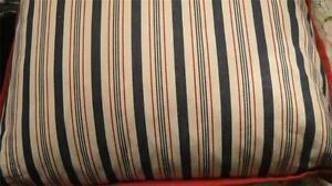 Ralph Lauren Cote D'azur Ticking Stripe 20x 20 in Pillow New