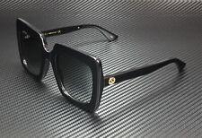GUCCI GG0328S 001 Rectangular Square Black Grey 53 mm Women's Sunglasses