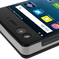 Skinomi TechSkin - Silver Carbon Fiber Skin & Screen Protector for ZTE Axon M