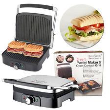 Sans gras Grill antiadhésif grillé Sandwich Panini Press Maker santé viande Veggie