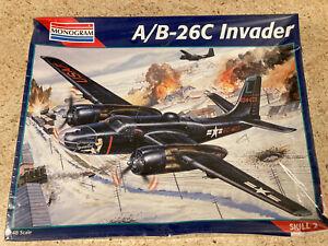 Monogram A/B-26C Invader Bomber Plane 1/48 Scale Plastic Model Kit. Sealed.