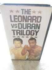 SUGAR RAY LEONARD VS ROBERTO DURAN TRILOGY - 1990 TOPRANK VHS TAPE PAL SYSTEM