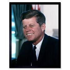 Portrait President John JFK Kennedy White House Photo Wall Art Print Framed