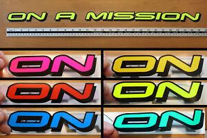 On A Mission- 90's rave window sticker decal, VW, T5, Beetle, Camper