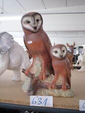 +# A002012 Goebel Archiv Muster Tier Animal Eule Uhu Kauz mit Kind Junges 35-113