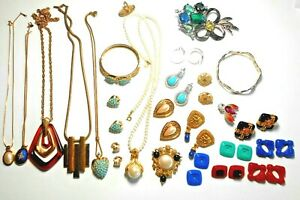 Lot of 21+ Assorted Pieces of Signed Avon Jewelry Ranging from 1970's - 1990's