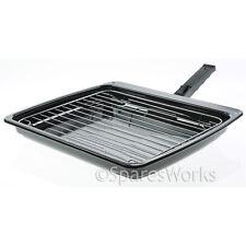 Whirlpool Vitreous Enamel Grill Pan & Detachable Slide Safety Handle 385X320mm
