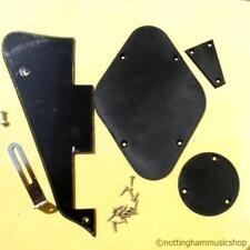 Les Paul type black plastic pick guard back switch plate+chrome bracket screws