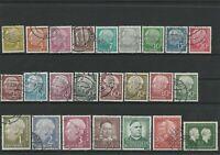 Wertvolles Lot Deutsche Bundespost 1953/54 gestempelt 24 Werte hoher Katalogwert