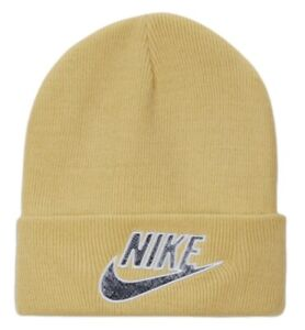 Supreme Nike Snakeskin Beanie Pale Yellow OS Deadstock New