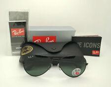 New Ray-Ban 3025 RB3025 Polarized 002/58 Black Green Aviator 58m Sunglasses