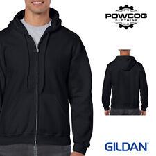 Gildan Heavy Blend Plain Zipped Hooded Sweatshirt Hoodie Sweat Zoodie Jumper