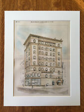 Building for Daniel Loring, 31st & Broadway, NY, 1888, Original Hand Colored