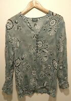 Womens sheer top floral size 12 <w830