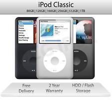 iPod Classic   80 120 160 256 512 1TB   Grey / Silver / Black   2 Year Warranty