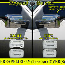 2004-2008 FORD F150 Chrome Door Handle COVERS no PSK w/Keypad+Mirror Overlays