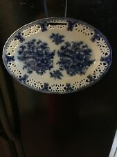 Basic Porcelana White Cobalt Blue Floral Decorative Plate Home Essentials