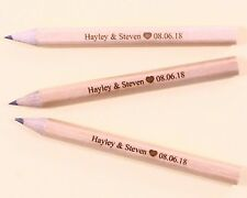 12 Engraved mini pencils personalised - Wedding, Bride, Save the Date, Hen, Baby