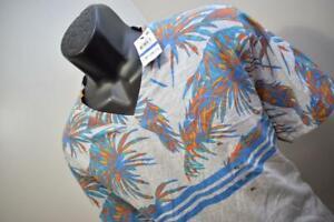 35410 New Mens American Rag CIE Floral Short Sleeve V Neck Tee Shirt Size XL