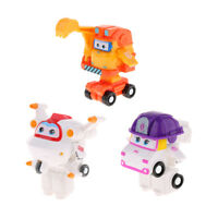3x Super Wings Transforming Toy ZOEY Astro Scoop Robot to Vehicles Set Kids Toys