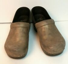 Gold copper distressed  Leather Dansko Clogs professional 42