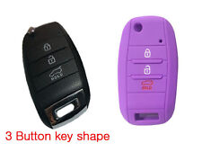 Car key cover protector Fits Kia 3Button Flip Sportage Rio Optima Sorento-Purple
