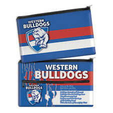QUALITY LARGE AFL Western Bulldogs Pencil Case School Work stationary Gift SALE