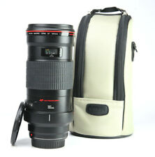 Canon EF 180mm F3.5 L USM Telephoto Macro AF Lens + Front & Rear Caps & Case