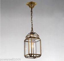 European Style 1 Light Glass + Copper Height 24CM Pendant Lighting Chandelier