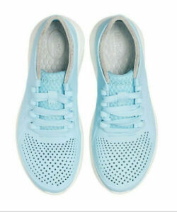 Crocs Literide Pacer Blue Womens Size 7 Sneakers Lace Up Rubber New