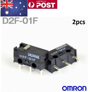D2F-01F 2pcs Omron Japan Micro Switch - Gaming Mouse Switch Logitech Zowie GPW