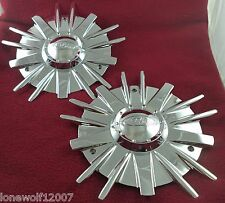 Eagle Alloys Wheels Chrome Custom Wheel Center Caps Set of 2 # 3138