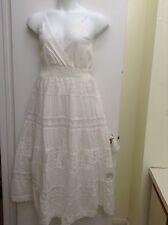 Women's Plus Size spring/summer long cotton sundress/Lace/ White/New.  2X