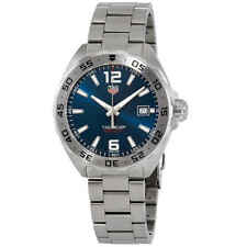 ORIGINAL TAG HEUER FORMULA 1 WAZ1118.BA0875 DATE QUARTZ GENTS BLUE STEEL WATCH