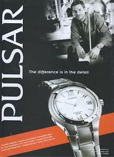 Pulsar Kinetic Quartz Accuracy  Watch 2003 Magazine Advert #2525